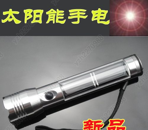 浙江创意用品 太阳能手电筒超强光铝合金图片