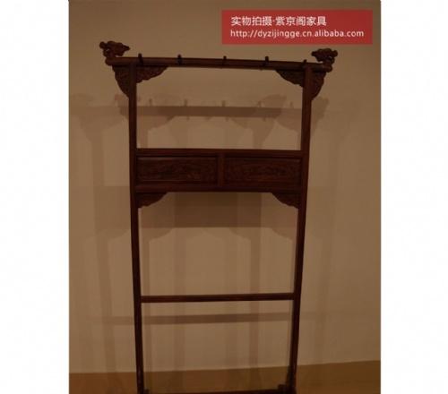 明清仿古红木家具古典实木龙门衣架