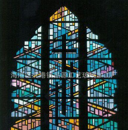 秦皇岛镶嵌玻璃 欧式 镶嵌彩色玻璃画