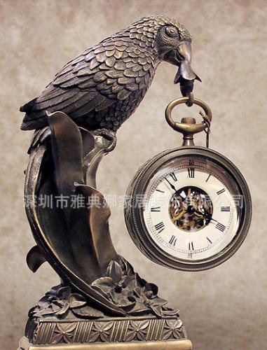 广东欧式 经典贵重鹦鹉钟表机械钟表