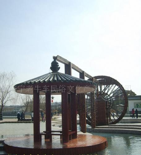 求购济宁大型防腐木组合景观水车(图a1030)