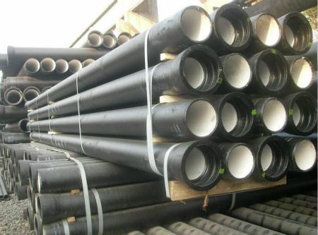 中频感应电炉熔炼 水冷金属离心铸造)生产,年产10万吨离心球墨管.