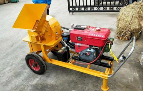广安树枝木屑机移动柴油